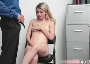 Cute blonde fucked